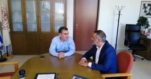 Συνάντηση Δημάρχου Οροπεδίου Λασιθίου με τον Πρ. του Ελληνικού Μεσογειακού Πανεπιστημίου