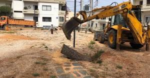 Εργασίες αποκατάστασης στο πάρκο αναψυχής Γιαμπουδάκη (φωτο)
