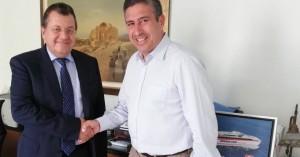 Με τον Διευθύνοντα Σύμβουλο των Μινωικών Γραμμών συναντήθηκε ο Πέτρος Ινιωτάκης