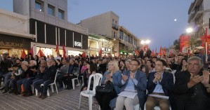H κεντρική προεκλογική συγκέντρωση του ΚΚΕ στο Ηράκλειο με ομιλητή τον Δημήτρη Κουτσούμπα