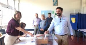 Στο 6ο ΕΠΑΛ Ηρακλείου ψήφισε ο Γιώργος Σισαμάκης