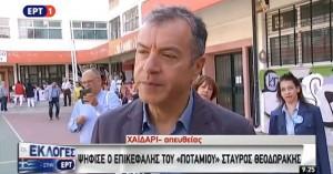 Εκλογές: Ψήφισε ο Σταύρος Θεοδωράκης - «Για να γεννηθούμε ένα σπερματοζωάριο δεν δείλιασε»