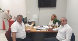 Επίσκεψη του βουλευτή Ηρακλείου του ΣΥΡΙΖΑ Σωκράτη Βαρδάκη στον Ηλία Λυγερό