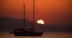 Το υπέροχο ηλιοβασίλεμα της Νάξου
