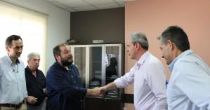 Συνεχίζει την περιοδεία του σε υπηρεσίες των Χανίων ο Δημήτρης Φραγκάκης (φωτο)