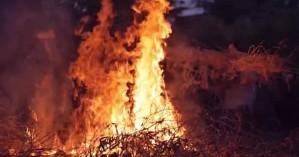 Συνέλαβαν άνδρα στα Χανιά που είχε βάλει φωτιά σε κλαδιά