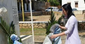 Στην εκδήλωση τιμής για τους πεσόντες στα Περιβόλια η Ευαγγελία Κουρουπάκη