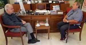 Συνάντηση Βασίλη Λαμπρινού με τον Αερολιμενάρχη Γιώργο Πλιάκα