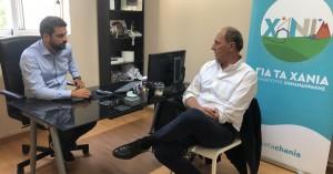 Συνάντηση με τον νέο δήμαρχο Χανίων είχε ο Γιώργος Σταθάκης