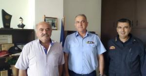 Συνάντηση του Ανδρέα Στρατάκη με Αστυνομία και Πυροσβεστική