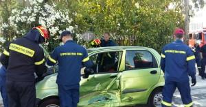 Σύγκρουση αυτοκινήτων στη Σούδα με μια τραυματία (φωτο)