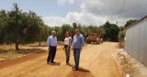 Στις εργασίες βελτίωσης των δρόμων της Τυλίσου ο Κώστας Μαμουλάκης