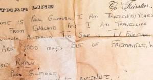 Μήνυμα σε μπουκάλι βρήκε τον αποστολέα του 50 χρόνια μετά