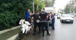 Χανιά: Τροχαίο ατύχημα στην Λεωφόρο Καραμανλή με τραυματία οδηγό μοτο (φωτο)