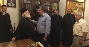 Ο Αρναουτάκης στον Αρχιεπίσκοπο κ.κ. Ειρηναίο για την ονομαστική του εορτή