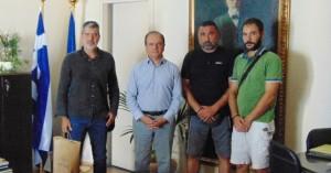 Συνάντηση Γ. Μαρινάκη με μέλος ΔΣ ΑΔΕΔΥ και εργαζόμενους στον Δήμο Ρεθύμνου