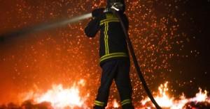 Ολονύχτια μάχη με τις φωτιές στα Ρουσσοχώρια του Δήμου Μινώα Πεδιάδος
