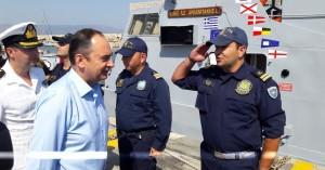 Στο Ηράκλειο ο υπουργός Ναυτιλίας Γιάννης Πλακιωτάκης (φωτο)