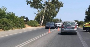 Τροχαίο ατύχημα στο Ακρωτήρι (φωτο)