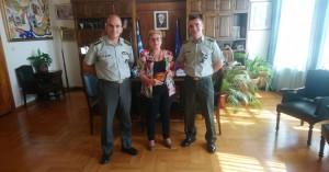 Εθιμοτυπική επίσκεψη της διοίκησης του στρατιωτικού μουσείου Χρωμοναστηρίου στη Μ. Λιονή
