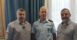 Συνάντηση Δημάρχου Οροπεδίου Λασιθίου με τον Αστυνομικό Διευθυντή Λασιθίου