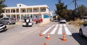 Σε εξέλιξη εργασίες διαγράμμισης διαβάσεων πεζών από το Δήμο Μαλεβιζίου