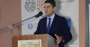 Αυγενάκης για το κλειστό γυμναστήριο Τυμπακίου