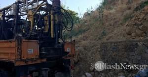 Ξεκίνησαν οι διερευνητικές γεωτρήσεις στον επιπρομαχώνα του Αγ.Δημητρίου (φωτο)