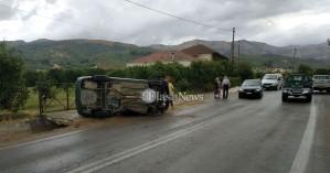 Τροχαίο ατύχημα στον Φουρνέ - Στο νοσοκομείο μία γυναίκα (φωτο)