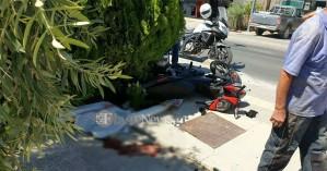 Σοβαρό τροχαίο με θύμα οδηγό μοτοσικλέτας στο Ρέθυμνο (φωτο)