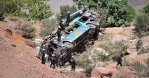 Τουλάχιστον 30 νεκροί σε δυστύχημα με λεωφορείο που ανατράπηκε και έπιασε φωτιά