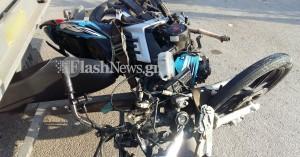 Με ταξί συγκρούστηκε το δίκυκλο στο πρωινό σοβαρό τροχαίο στα Χανιά (φωτο)