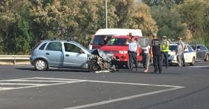 Μια τραυματίας σε τροχαίο στον ΒΟΑΚ στα Χανιά (φωτο)