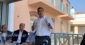Ξεκίνησε από τα Χανιά η περιοδεία του Αλέξη Τσίπρα στην Κρήτη (βίντεο και φωτο)