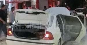 Στις φλόγες αυτοκίνητο στο κέντρο της Ιεράπετρας (φωτο)