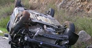 Ανατράπηκε αυτοκίνητο σε τροχαίο στον Αποκόρωνα