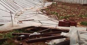 Μεγάλες ζημιές στην Κουντούρα - Καταστράφηκαν ολοσχερώς θερμοκήπια (φωτο)
