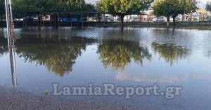 Πλημμύρισε δημοτικό σχολείο στη Λαμία