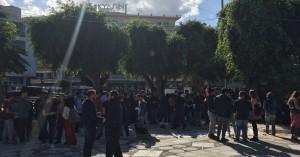 Τριπλή φοιτητική κινητοποίηση στα Χανιά και συμβολική κατάληψη του κτίριου Παπαδόπετρου