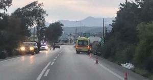 Ταξί συγκρούστηκε με μηχανή στο Ρέθυμνο - Στο νοσοκομείο ένα άτομο (φωτο)