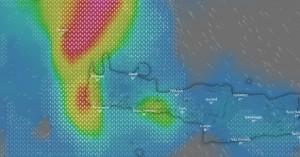 H πορεία της «Βικτώριας» στην Κρήτη - Ισχυρές καταιγίδες (φωτο - βίντεο)