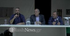Στην Κίσαμο ο Βασίλης Διγαλάκης για την εύρεση λύσης για τα σεισμόπληκτα σχολεία (Φώτο)
