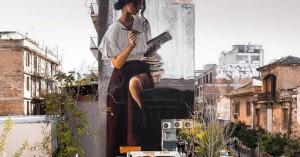 Εντυπωσιακό γκράφιτι στο Μεταξουργείο τραβά πάνω του όλα τα βλέμματα