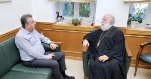 Συνάντηση Περιφερειάρχη με τον Πατριάρχη Αλεξανδρείας