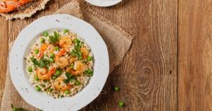 Ριζότο με καλαμαράκια και γαρίδες