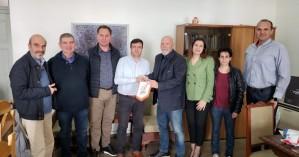 Συνάντηση Αντιπεριφερειάρχη Ηρακλείου με την διοίκηση Συνδέσμου Βετεράνων Καλαθοσφαίρισης