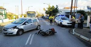 Τροχαίο ατύχημα με το καλημέρα στα Χανιά – Ένας τραυματίας (φωτο)