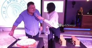 Άρης Σούδας: Έκοψε την πίτα με ευχές για χρονιά πρωταθλήματος (φωτο – βίντεο)