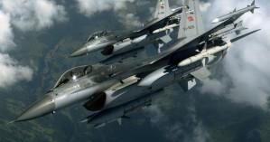 Διπλές υπερπτήσες τουρκικών F-16 πάνω από τους Λειψούς