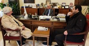 Εθιμοτυπική συνάντηση Λαμπρινού - νέου Διοικητή ΠΑΓΝΗ